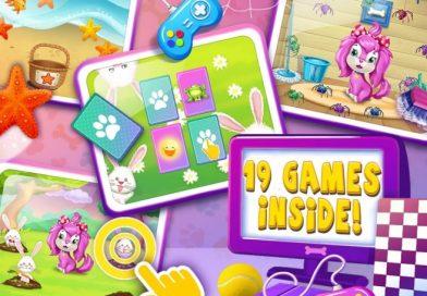 父母陪同子女一起玩遊戲 Pink Dog Mimi – My Virtual Pet,一起探索新事物。